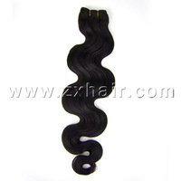 "24"" 100 Human Free Shipping Unprocessed Virigin Brazilian Remy Human Hair Wavy Weave Weft Extensions #1b natural black"