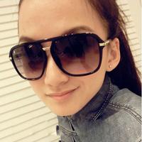 M65 fashion big black fashion sunglasses the box vintage sunglasses male women's star style glasses