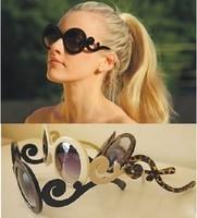 Fashion butterfly wings Women sun glasses pr circle box elegant all-match sunglasses