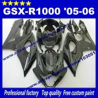 Bodywork Fairings for SUZUKI GSX-R 1000 05 06 GSXR1000 2005 GSX R1000 2006 K5 all glossy black fairing set AP61+7 gifts