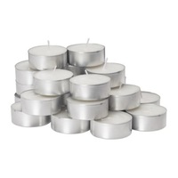 Free shipping! 24 pieces/lot white color unscented  candles, paraffin material.