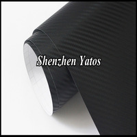 3D Carbon Fier Vinyl Black Carbon Fiber Sheet Car Wrapping Air Free Shipping Free