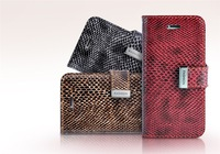new 2013 hot selling snakeskin grain purse holster for apple iPhone 5 free shipping