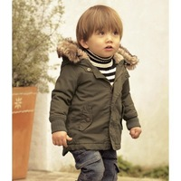 2013 free shipping Retail 1 set Top Quality! kids long-sleeve plush hoodies jacket boy thick cotton coat 2-6yrs in stock