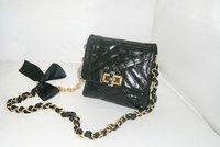 Happy Mini Pop Bag Shoulder bag 6032 in Black Quilted Lambskin Leather