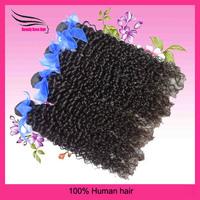 DHL Free Shipping Brazilian Curly Hair 4pcs/lot mix length Unprocess Virgine HumanHair Extension Natural Black Color