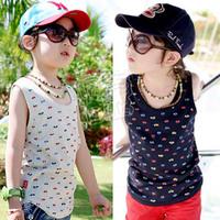2013 summer boys clothing girls clothing baby child T-shirt sleeveless vest tx-1137
