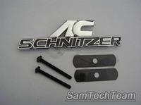 10pcs/lot 3D Car Front Grille grill emblem badge for bmw ac schnitzer general use zinc alloy Black silver, Red silver mix color