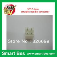 Free shipping by fsat SGP~100pcs/lot 5557-4pin straight needle connector ,4.2 MM spacing ,female butting connector double row