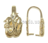 Free shipping!!!Brass Pinch Bail,2013 designers for men, KC gold color plated, nickel, lead & cadmium free, 9x17x9mm, 10PCs/Bag