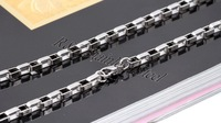 Wholesale Free Shipping 316L stainless steel long box chain,mens fashion silver necklace,trendy necklace for matching pendants
