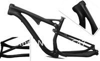 29er Glass Suspension mountain bike/bicycle frame,OEM 200 shock Carbon fiber carbon Suspension MTB bike frame