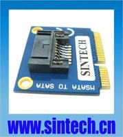 "2.5/3.5"" SATA SSD HDD to laptop mini SATA mSATA Adapter converter card +bracket"