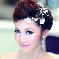 Colour handmade flower the bride married hair accessory hair accessory pearl soft hair accessory wedding dress