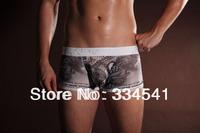 Free shipping Silky cool U convex bursa men's underwear low-waist pants. men's Boxer Shorts