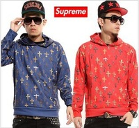 2013 high quality supreme ss Crosses Belted Short Cross casual sweater Hoodies