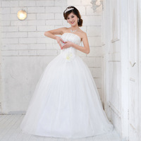 Free Shipping  New 2013 Luxury  High-end Peal Flower Sex Tube Top Bride Wedding Dress  Wholesale