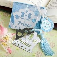 Factory Directly Selling Baby Birthday Decoration Bookmark Blue Crown Princess Bookmark+100pcs/LOT+FREE SHIPPING(RWF-0036U)