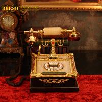Readjusted 24k jade vintage telephone royal antique baroque rodin