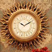 Antique decoration fashion wall clock quieten h069k