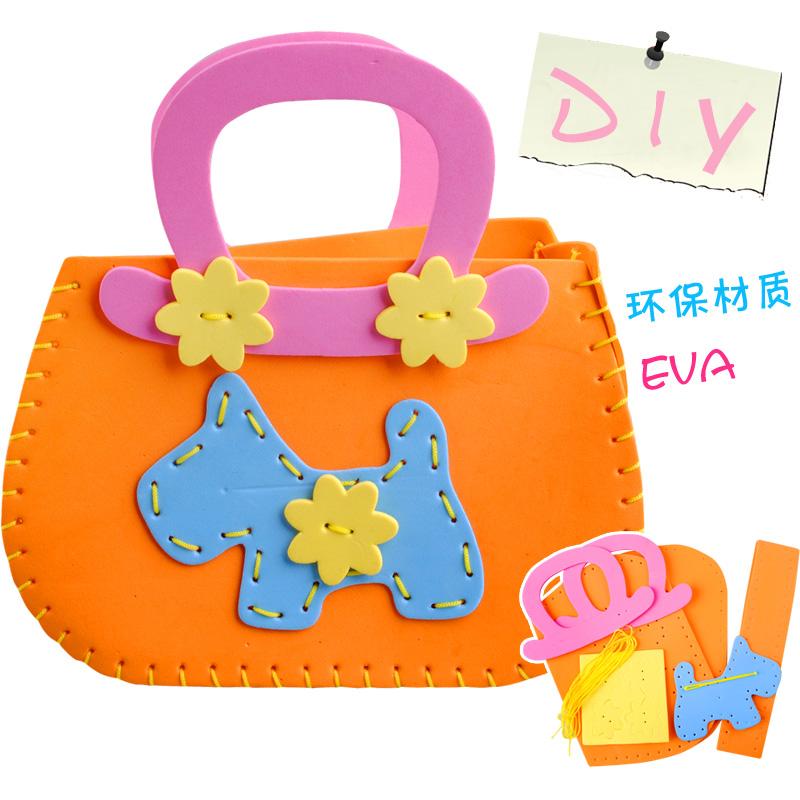 frete grátis 9,9 eva handmade etiqueta estéreo saco da bolsa de quebra-cabeça do bebê criança diy 3-7(China (Mainland))