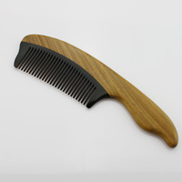 Wooden comb green sandalwood horn homozygous combs jade santalwood green wooden comb personalized yh3-9