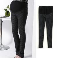 Plaid all-match fashion maternity clothing maternity pants skinny pants pencil pants belly pants