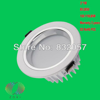 Hot!!! Free Shipping Dimmable 3W 5W Bridgelux Chip Warranty 3 Years Lifespan 50000H High Lumen Dimmable LED Downlight COB