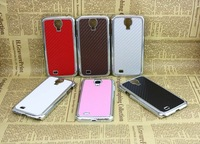 hot sale seats grain to stick a skin shell plating  case for samsung i9500 s4 free shipping