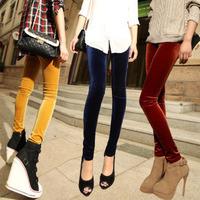 factory wholesale new women gold velvet trousers, Slim nine feet pants , leggings high quality pants Free Shipping