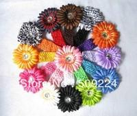 13pcs Crochet Headband & Daisy Flower for baby girls