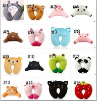 Free shipping,Nap pillow,U-Shape Soft Neck Pillow for travelling/Waist cushion,16 styles