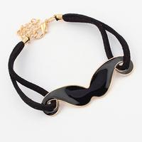 Min order is $10(mix order)New Fashion Bracelet Vintage Love Charm Cute Moustache Beard Bracelet,Arm Candy Bangle