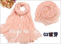 180*110cm Pure wrinkled scarves warm long scarf shawl scarves models wild women cotton scarves free shipping