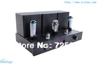 WISTAO HIFI Tube Amplifier 6N3 * 2 preamp EL34 * 2 Power Amplifier 5Z4 Rectifier SRPP Circuit Pure Tube Amplifier 2 X 8W