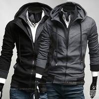 Free shipping 2013 famous designer brand leisure casual Korean fashion Cool Cotton male men's Sweater hoodies M L XL XXL y021