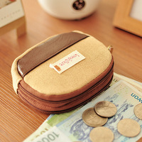 Arbitraging double layer canvas key coin purse small bags women's wallet