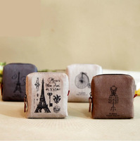 Female memory coin purse coin case coin pocket canvas small wallet