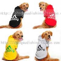 Wellsore clothes autumn and winter thickening sweatshirt wadded jacket satsuma wellsore large dog clothes