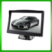 "5"" TFT LCD Color Screen Camera Monitor Car Reverse Rear view DVD VCR System/car monitor HD free shipping"