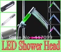 Free shipping Romantic LED shower head color super bright LED temperature control shower rod shower bath Type A13
