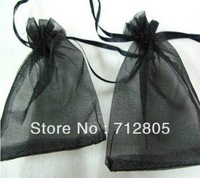 Wholesale 100pcs/lot 20x30cm Black Large Organza Bag Wedding Drawable Voile Pouch Jewelry Gift Packaging Bags Free Shipping