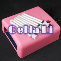 Pro 36W Pink UV NAIL Art CURING LAMP GEL DRYER BULB LIGHT ACRYLIC Tips Kit 512