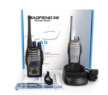 New Black Walkie Talkie UHF 5W 16CH BaoFeng BF-A5 VOX FM Scrambler Two-Way Radio Interphone Transceiver