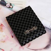 Free shipping Fashion mastermind lovers design wallet square grid velvet wallet