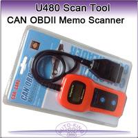 Newest U480 OBD2 CAN BUS car creader & Engine Code Reader, support OBDII CAN BUS memo scaner U480