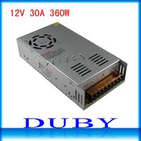 12V 30A 360W Switching Power Supply Driver For LED Strip light Display AC100V-240V Input,12V Output Free Shipping
