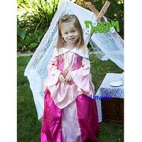 Halloween Deluxe Pink Sleeping Beauty Dress Costume 2-8Y