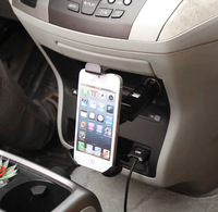 2013 New Arrival Hot   Holder Mount Socket Stand with USB Car Charger For iPhone 5 4S Samsung Cellphone Free shipping &wholesale