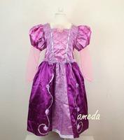Halloween Girls Rapunzel Tangled Princess Dress Costume 2-8Y